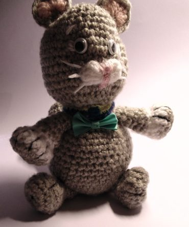Soft toys: Hand knitted Cat toy