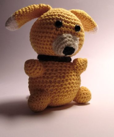 Soft toys: Hand knitted Doggie toy