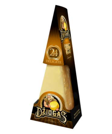 Hard cheese DŽIUGAS® Delicate, 24-month-ripened