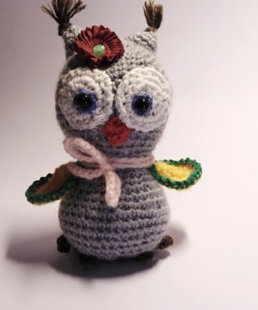 Soft toys: Hand knitted owl toy