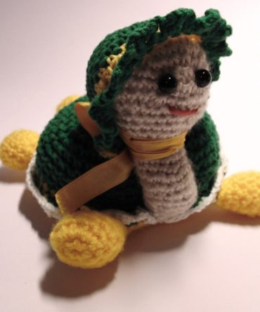 Soft toys: Hand knitted Turtle toy