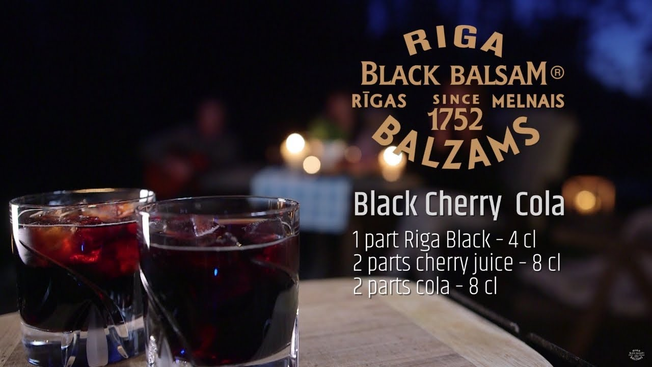 Black Cherry Cola with Riga Black Balsam