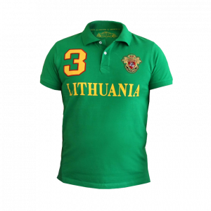 "Green Polo t-shirt ""Lithuania 3 Style"""