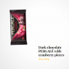 Lithuanian Dark chocolate PERGALĖ with cranberry pieces – 220 gr