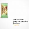 Lithuanian Milk chocolate PERGALĖ with whole hazelnuts  – 250 gr